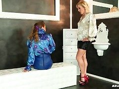 Incomparable satin blouse girls in sapphist video