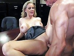 Adorable doyen plus cock warm blonde milf Julia Ann with