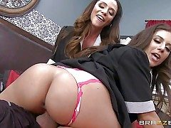 Spunky mind-blowing Ariella Ferrera and Jynx Maze are sinfully mind-blowing