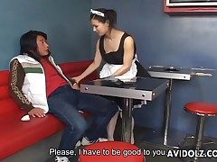 Maria Ozawa amazing blowjob in maid unalterable