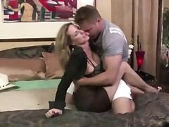 Mummy Jodi West Convinces Youthful Guy To Fuck Her