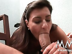 German mature wife gets the man meat inwards her